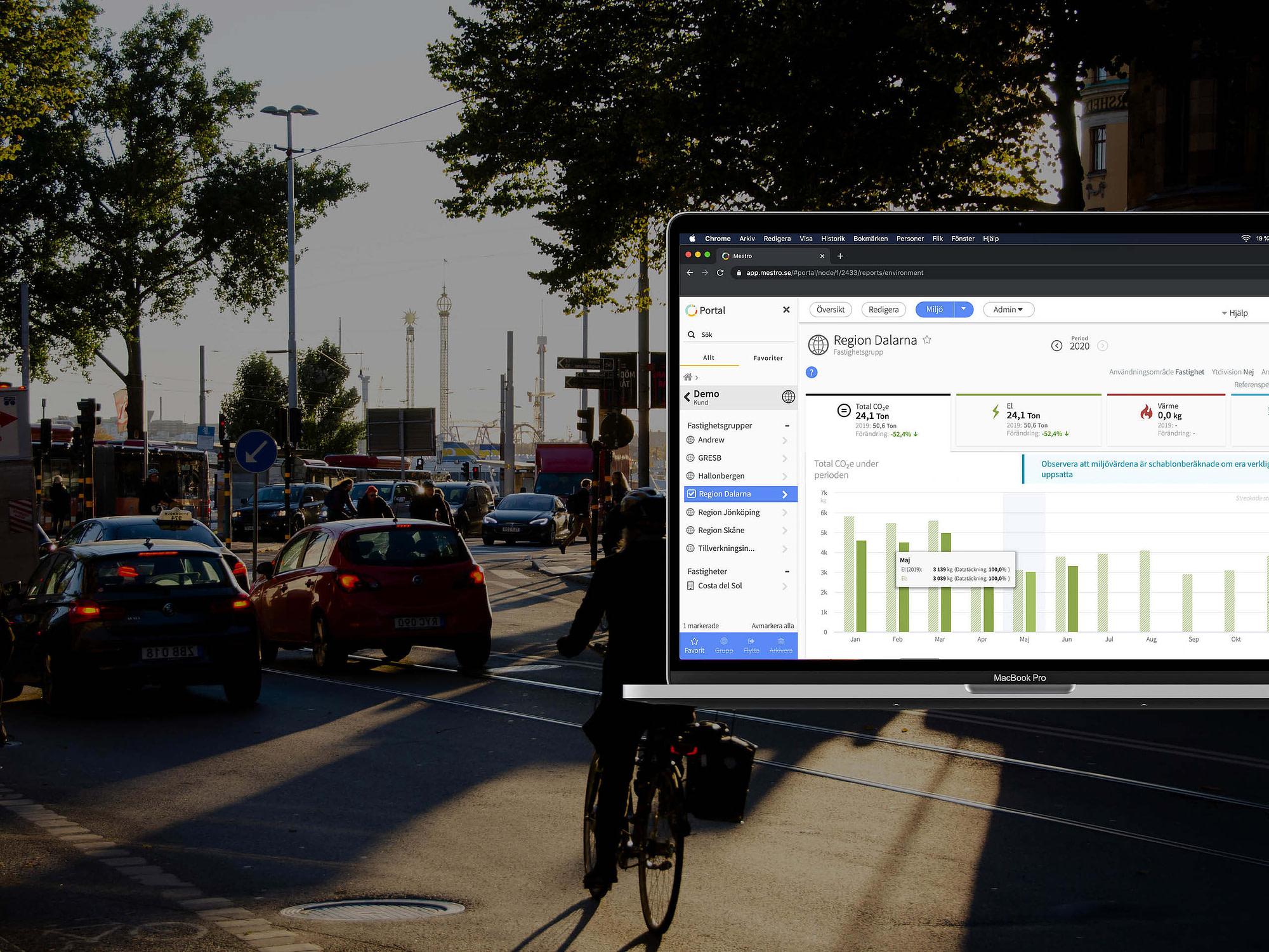 Mestro Portal mäter transporter