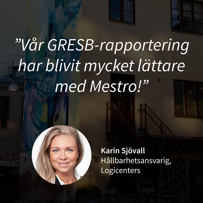 Kundcase Karin Sjövall Logicenters