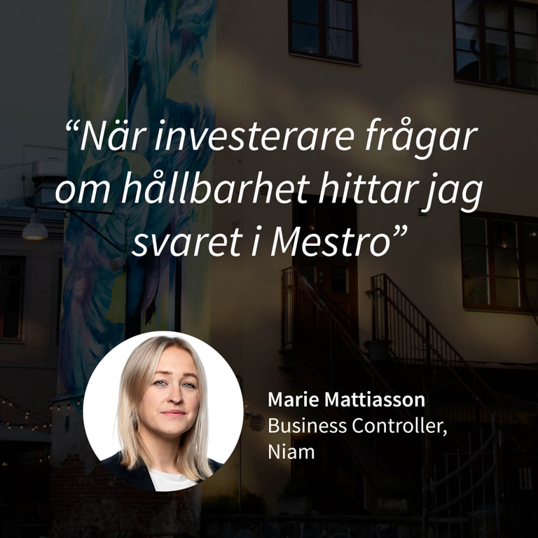 Kundcase Marie Mattiasson Niam
